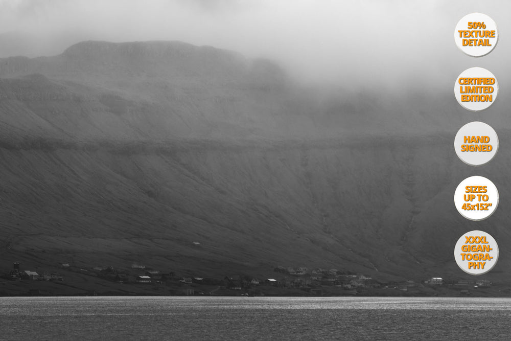 The White Horse, Faroe Islands, North Atlantic. | 50% Magnification Detail View of the Print.
