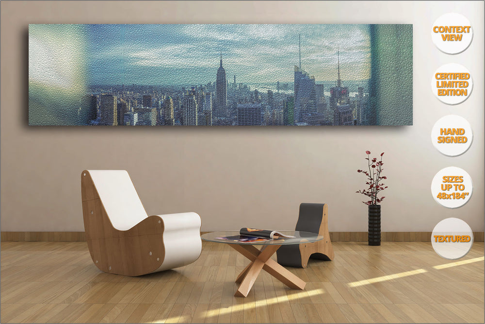 Manhattan Giant Panorama, New York. | Limited Edition Print hanged in Living Room.
