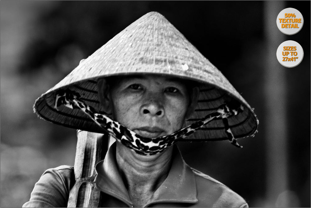 Portrait of woman, Saigon, Vietnam. | View of the Print at 50% magnification detail.
