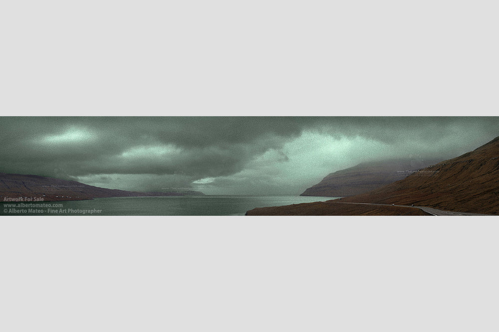Landscape in Red and Green, Faroe Islands. | Limited Edition Giant Print.