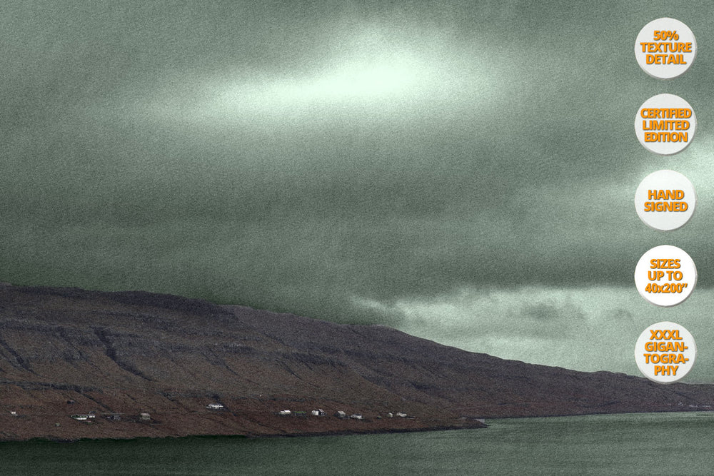 Landscape in Red and Green, Faroe Islands. | 50% Magnification Detail.