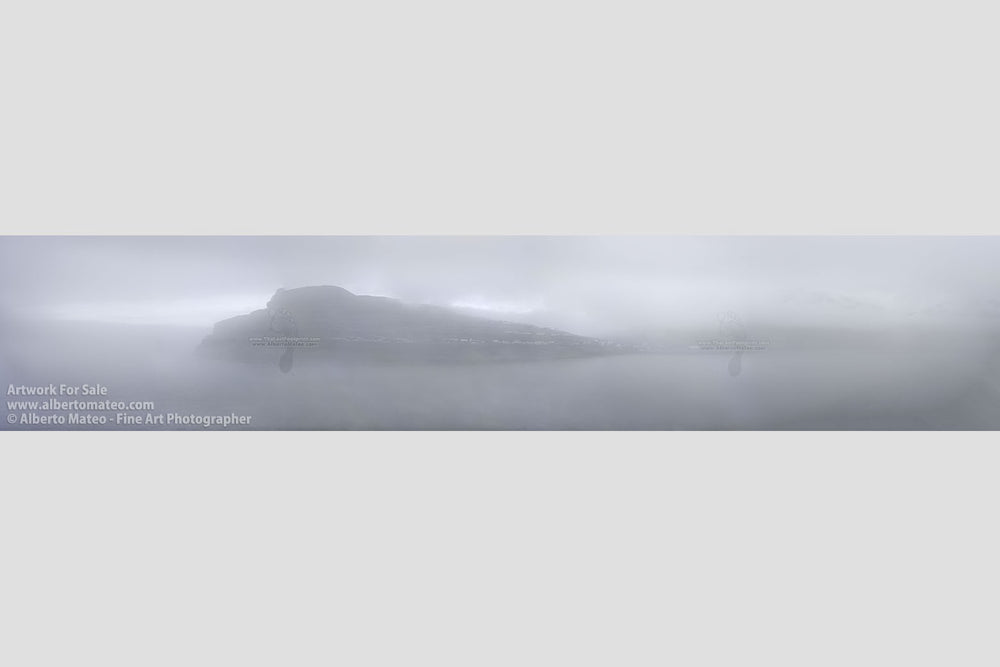 Fog in Eidi, Faroe Islands, North Atlantic. | Giant Open Edition Print.
