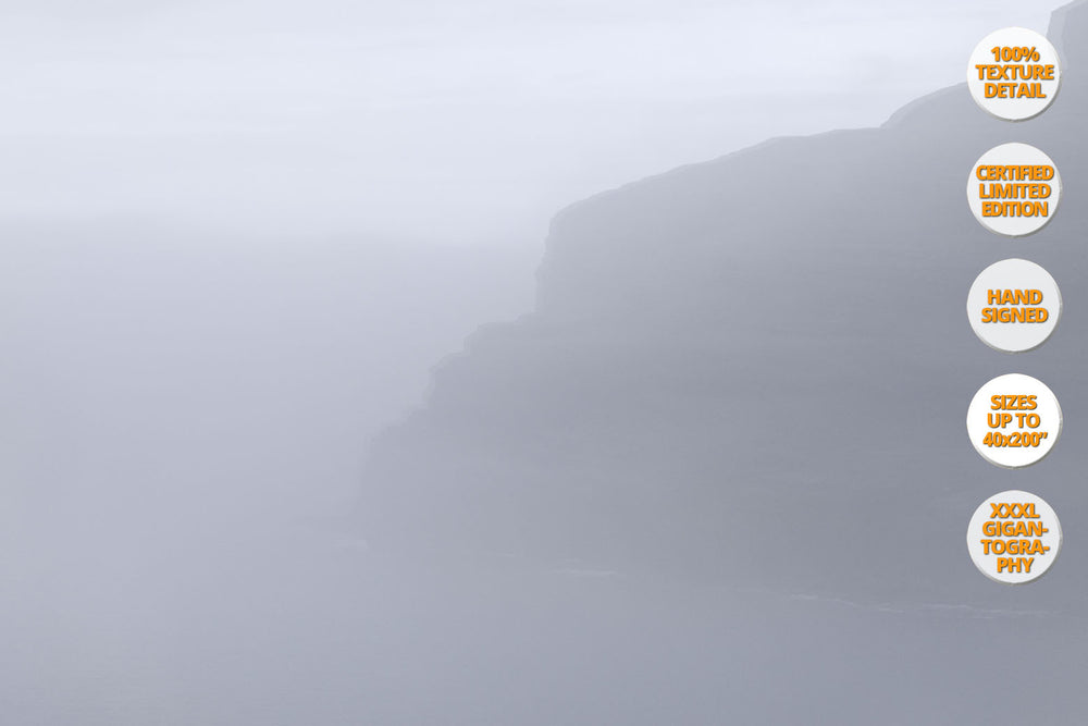 Fog in Eidi, Faroe Islands. | 50% Magnification Detail.