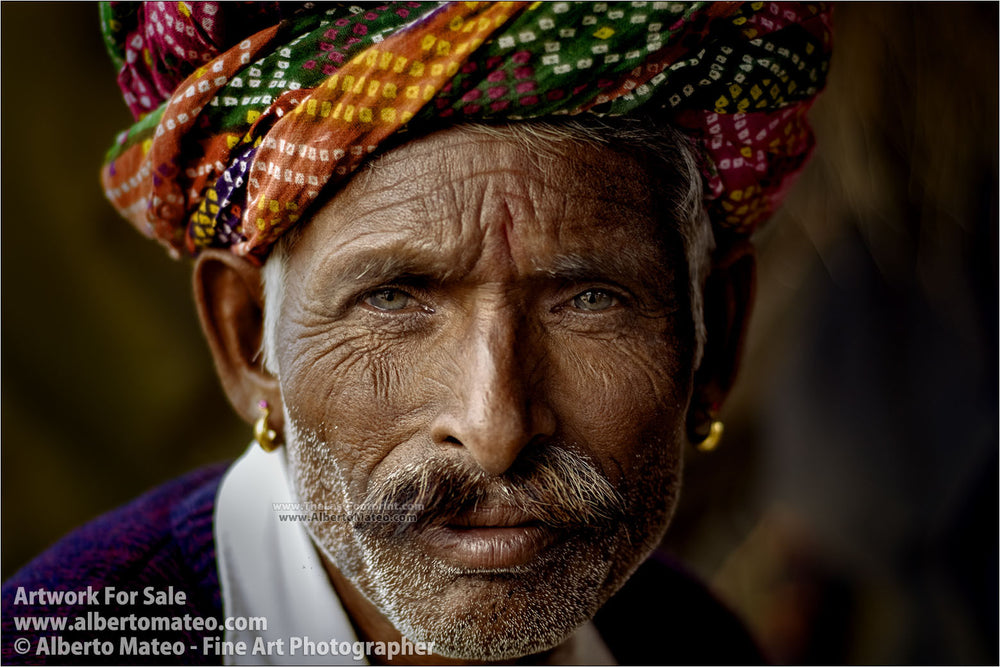 Rajastani Musician, Pushkar Camel Fair, India. | Open Edition Fine Art Print.