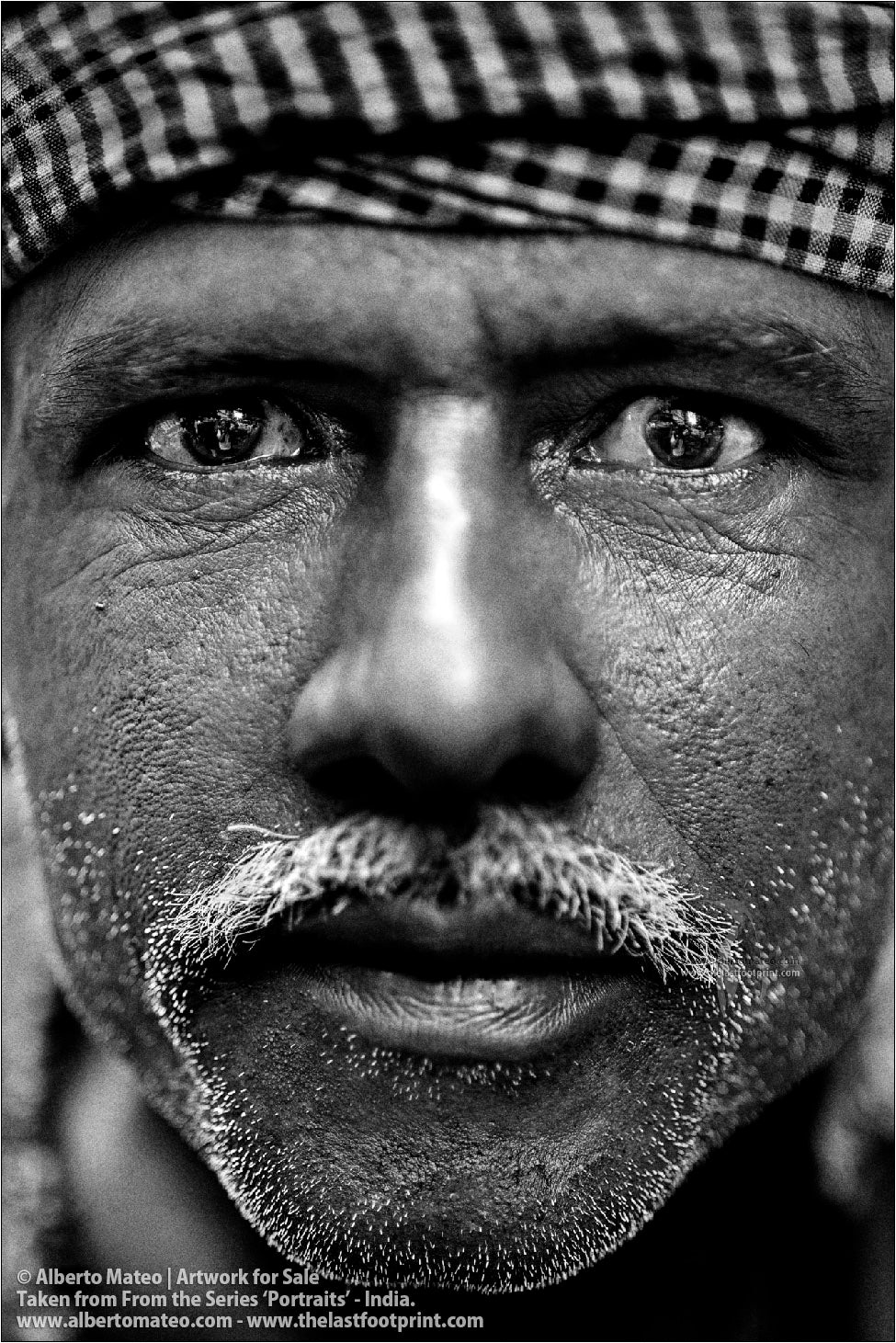 Portrait of  Porter, Bara Bazar, Kolkata, India.