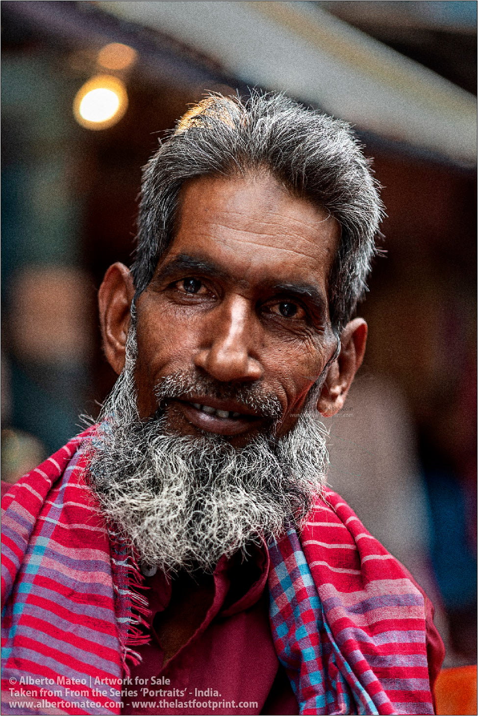 Portrait of Porter Foreman, Bara Bazar, Kolkata, India. [COLOR]