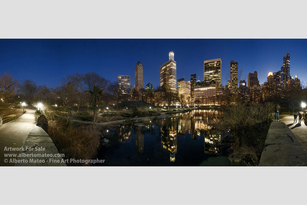 The Pond at dusk, Central Park, New York. | Available as Giant Print.
