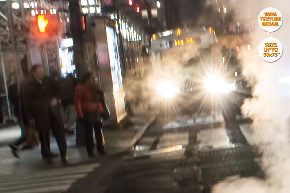 Steam in the 42nd. St., Manhattan, New York. 100% Detail.