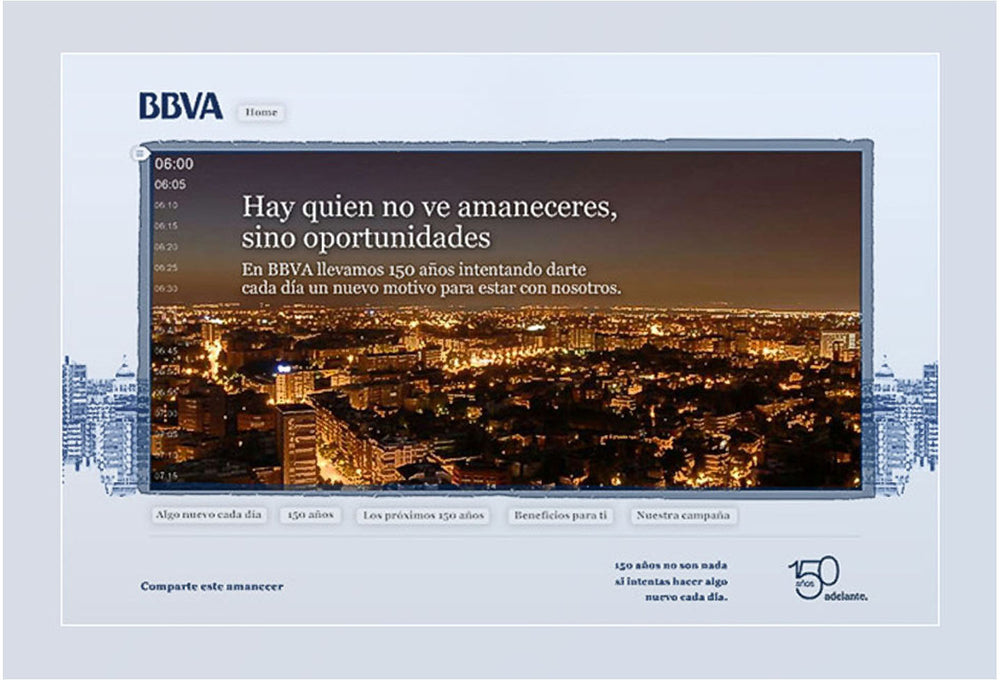 Ad Campaign for BBVA, Madrid.