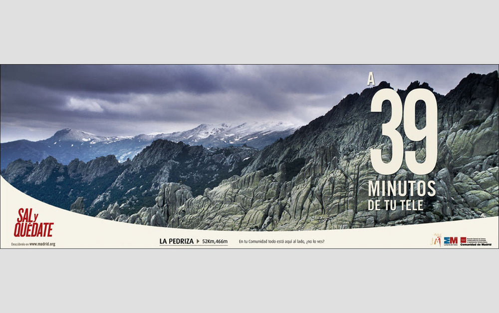 Guadarrama Range in Winter. | Advertising Campaign, 'Sal y Quedate', Madrid, Spain.