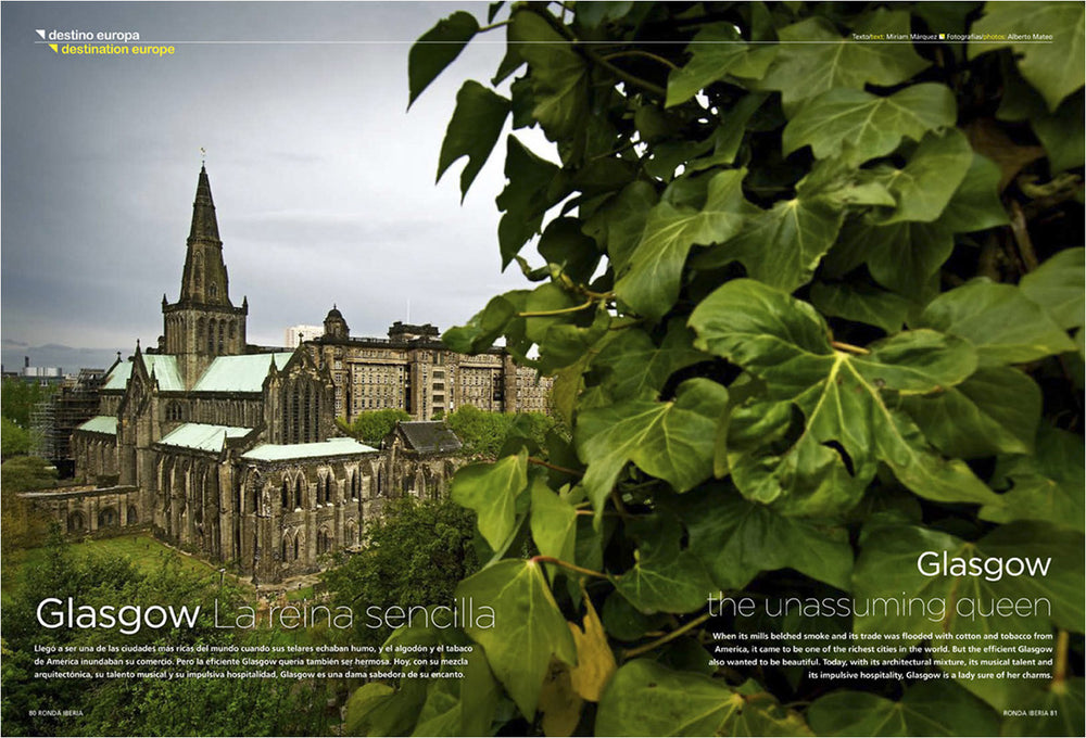 Glasgow Cathedral, Editorial Reportage for Ronda Iberia.