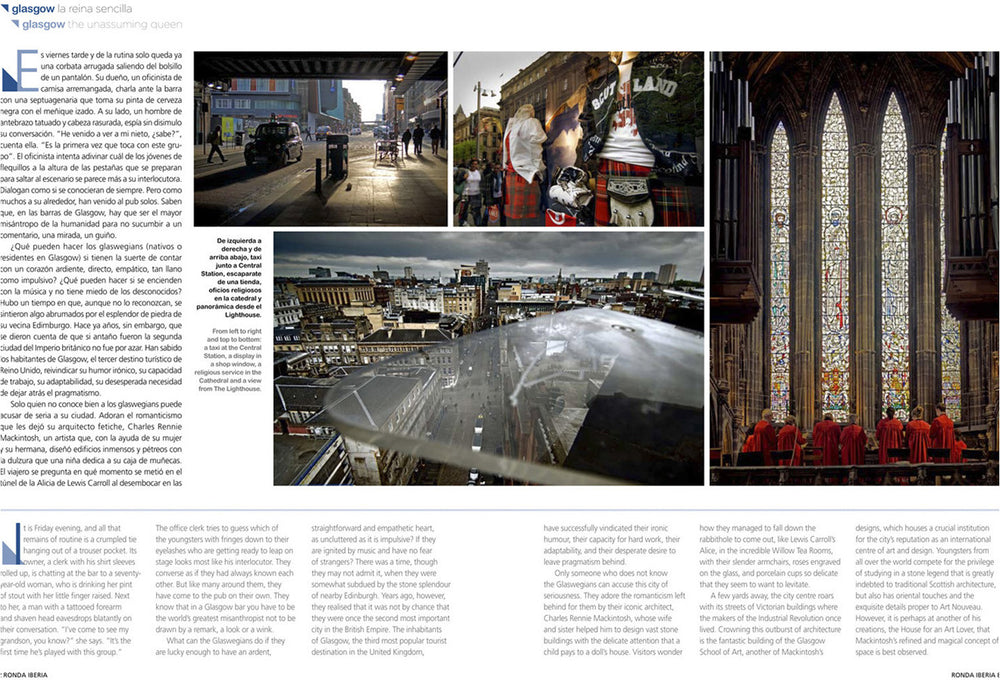 Glasgow Editorial Reportage for Ronda Iberia. Alberto Mateo.