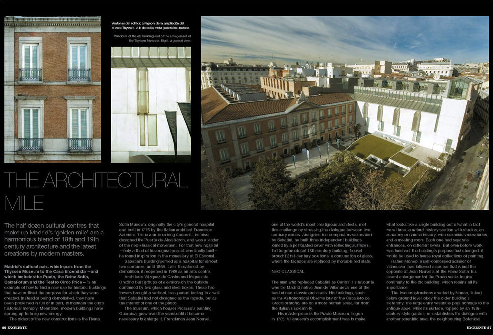 The Mile of Architecture, Reportage by Alberto Mateo.