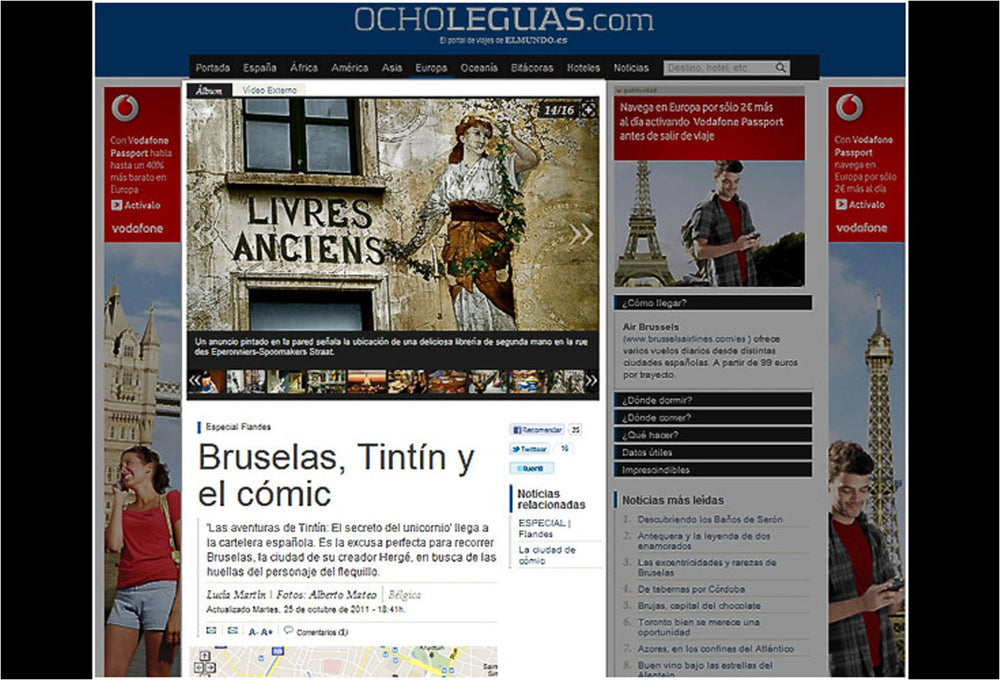 Comics in Brussels Web Reportage.