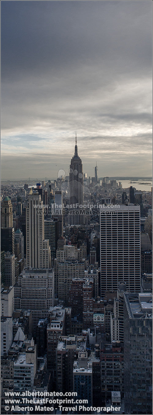 The Empire State Building before sunset, New York. | Open Edition Fine Art Print.