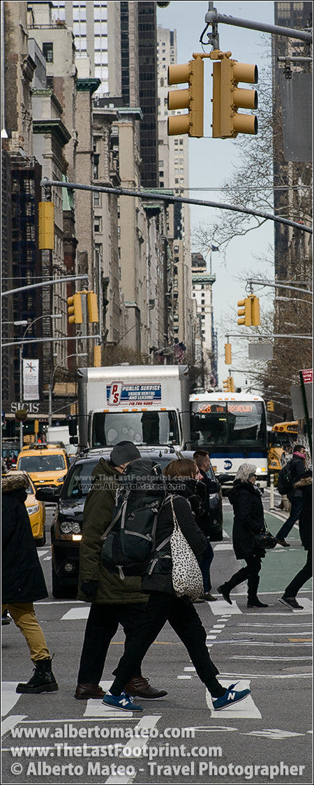Zebra crossing in Broadway, New York. | Open Edition Fine Art Print.