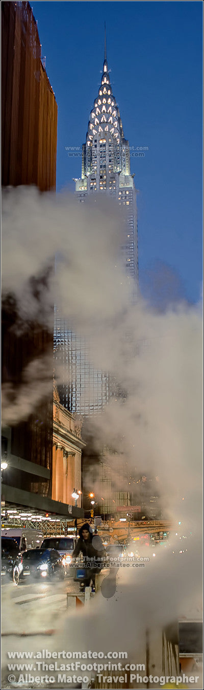 Steam pipe, 42nd st., Chrysler Bdg., NY. | Vertical Panoramic Crop.