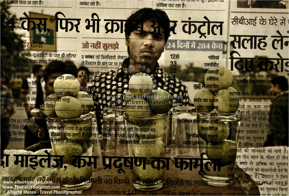 Lemon juice seller, New Delhi, India. | Open Edition Print.