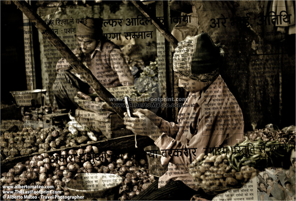 Main Bazaar, New Delhi, India. | Open Edition Fine Art Print.