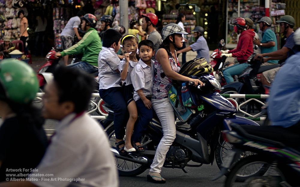 Traffic jam, Saigon, Vietnam. | Unlimited Edition Fine Art Print.