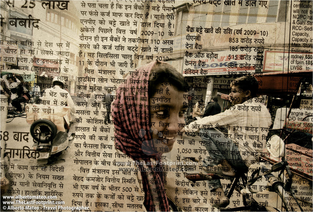 Young carrier, Chandni Chowk street, Old Delhi.  | Unlimited Edition Fine Art Print.