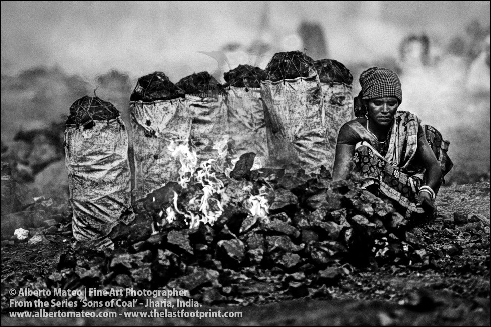 Woman and Coal Bags, Sons of Coal Series.