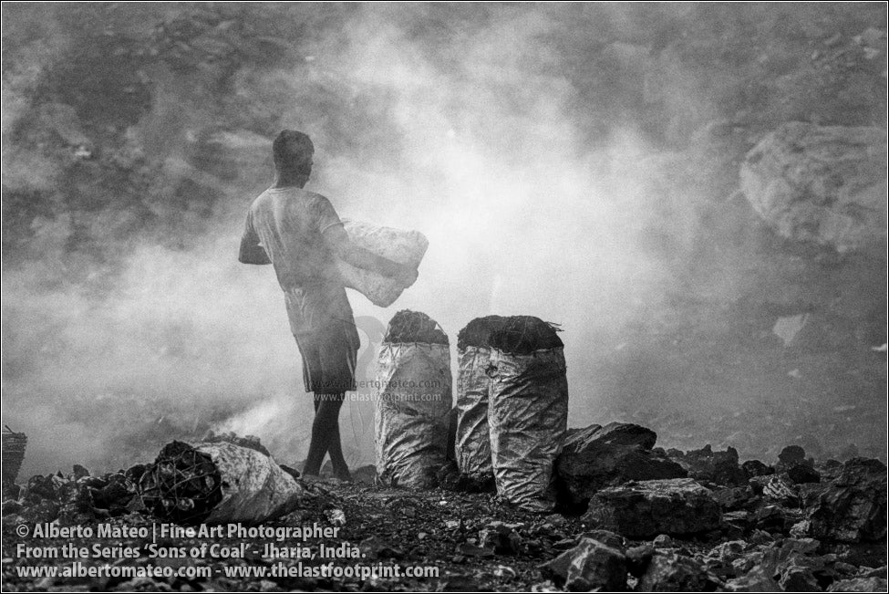 Man Carrying Coal Bags, Sons of Coal Series.