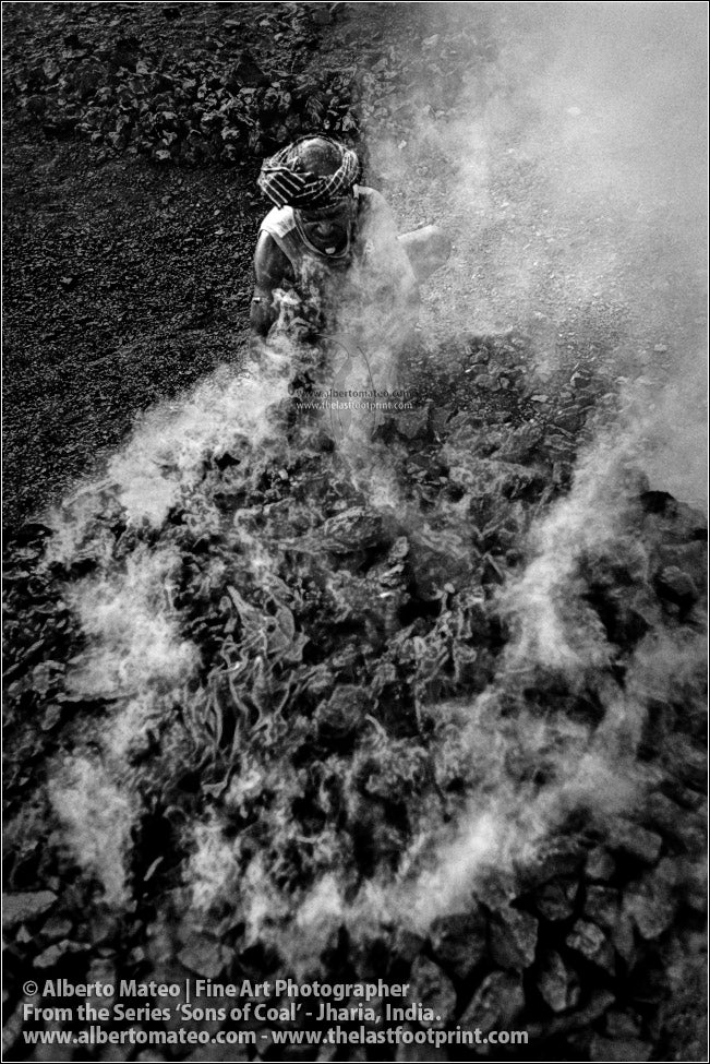 Man making Coke Fire, Sons of Coal Series.