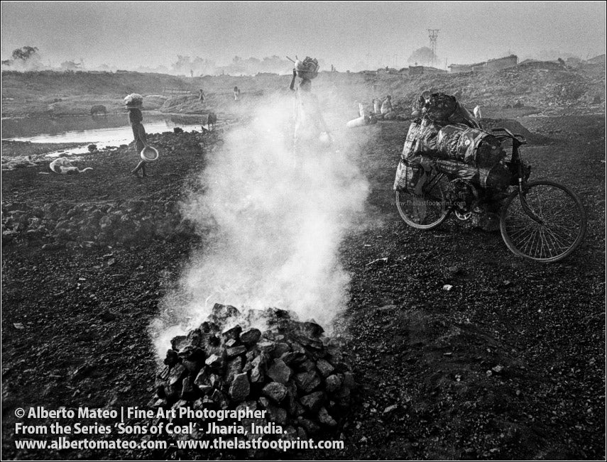 Worker Loading a Bicycle in Coal Fields, Sons of Coal Series.