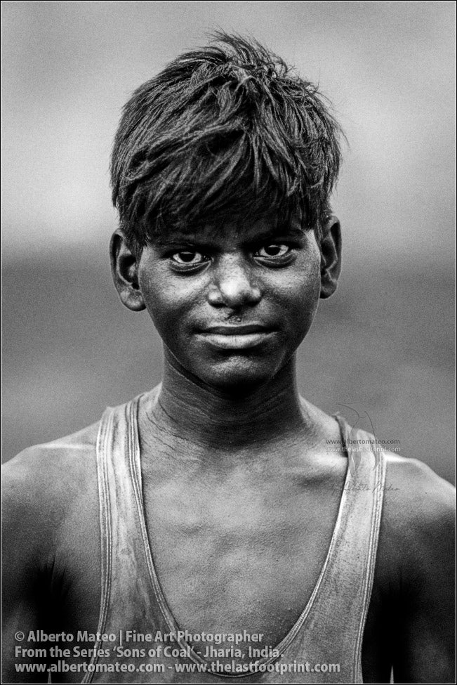 Portrait of Indian Boy, Sons of Coal Series.