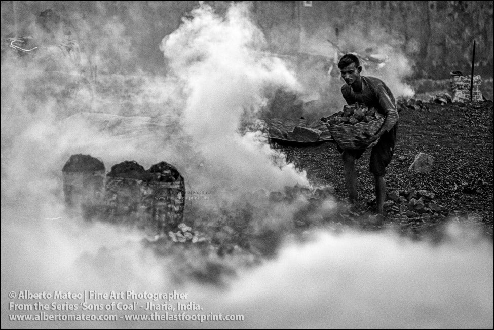 Man burning Coal to make Coke, Sons of Coal Series.