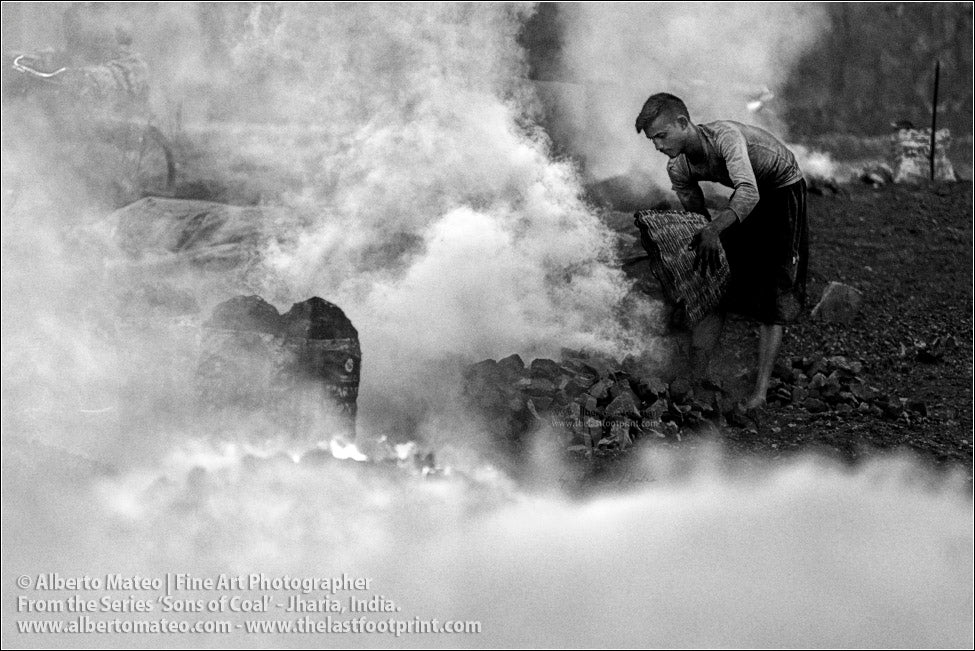 Man burning Coal, Sons of Coal Series.