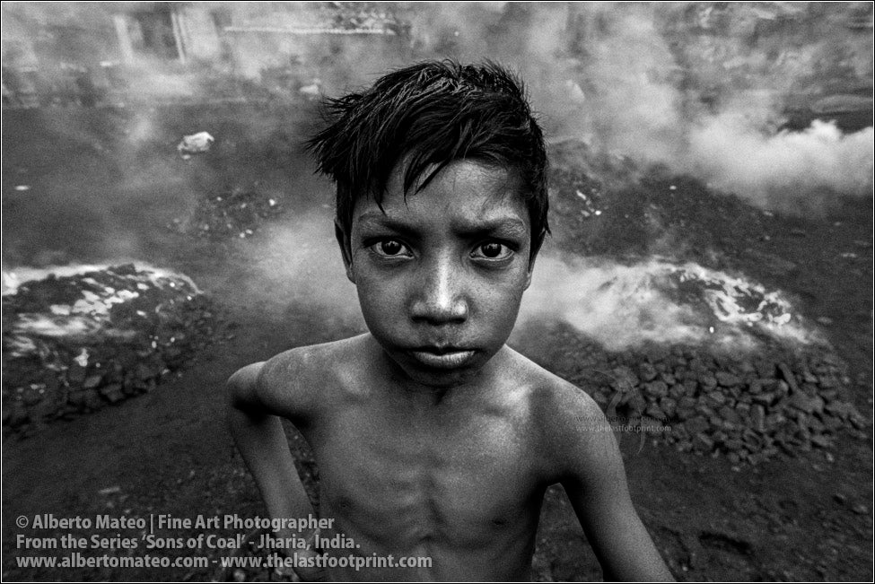 Portrait of Boy in Coal Smoke, Sons of Coal Series.