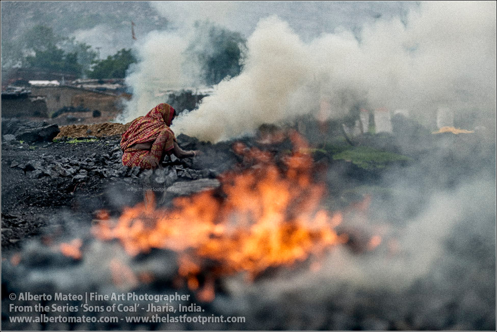 Woman making Fire, Sons of Coal Series.