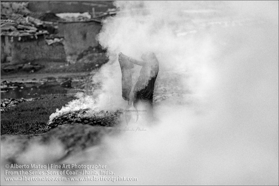 Woman drying Clothes in Coal Smoke, Sons of Coal Series.