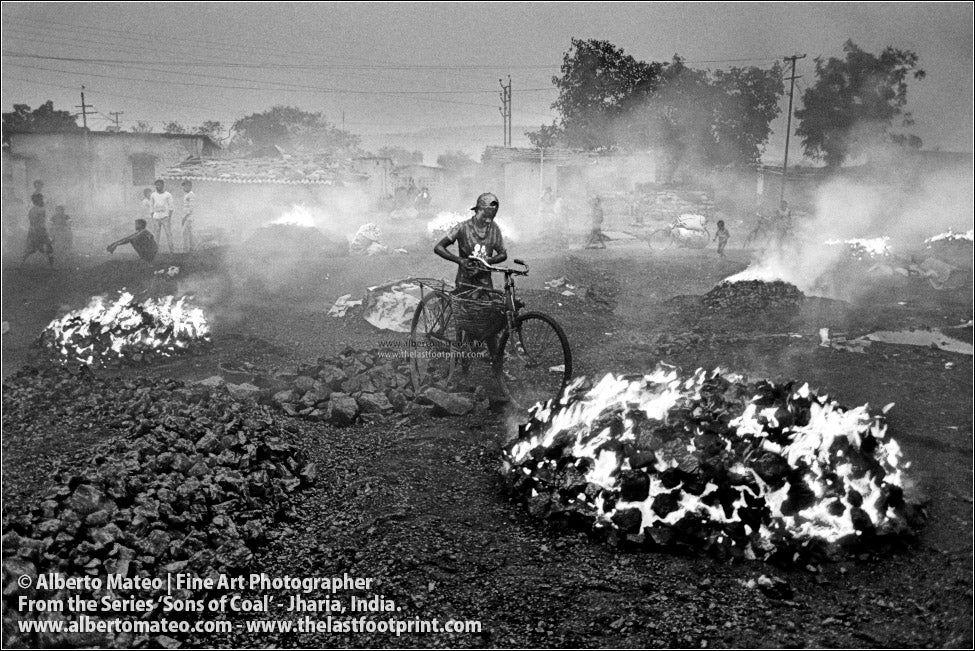 Boy with Bicycle among Bonfires, Sons of Coal Series.
