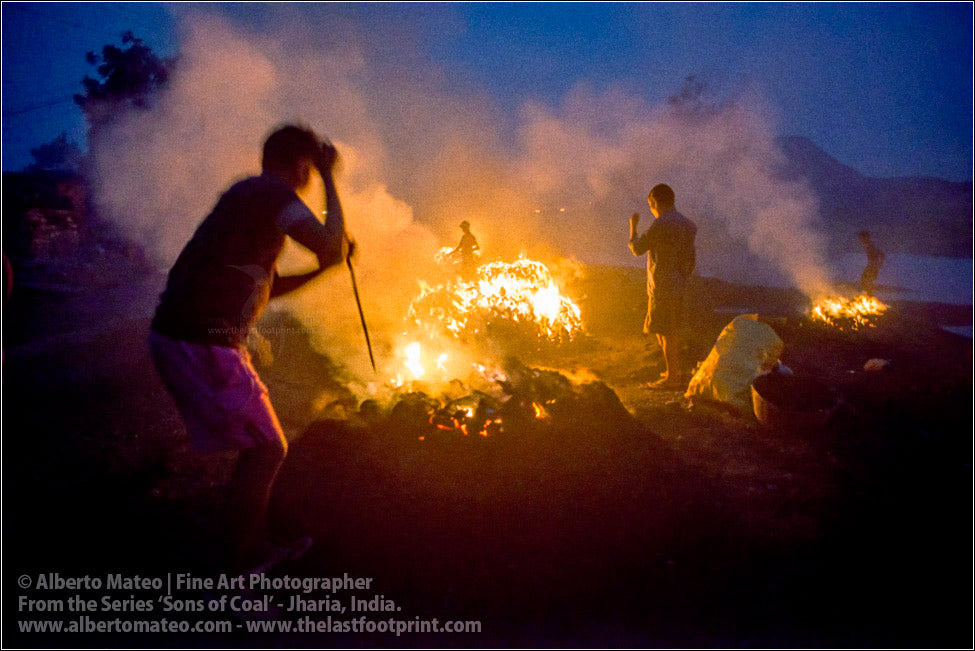 Men moving Coal in Bonfire, Sons of Coal Series.