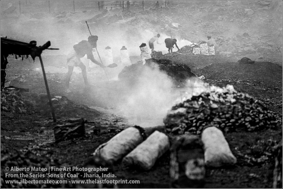 Man covering the Coal with Sand, Sons of Coal Series.
