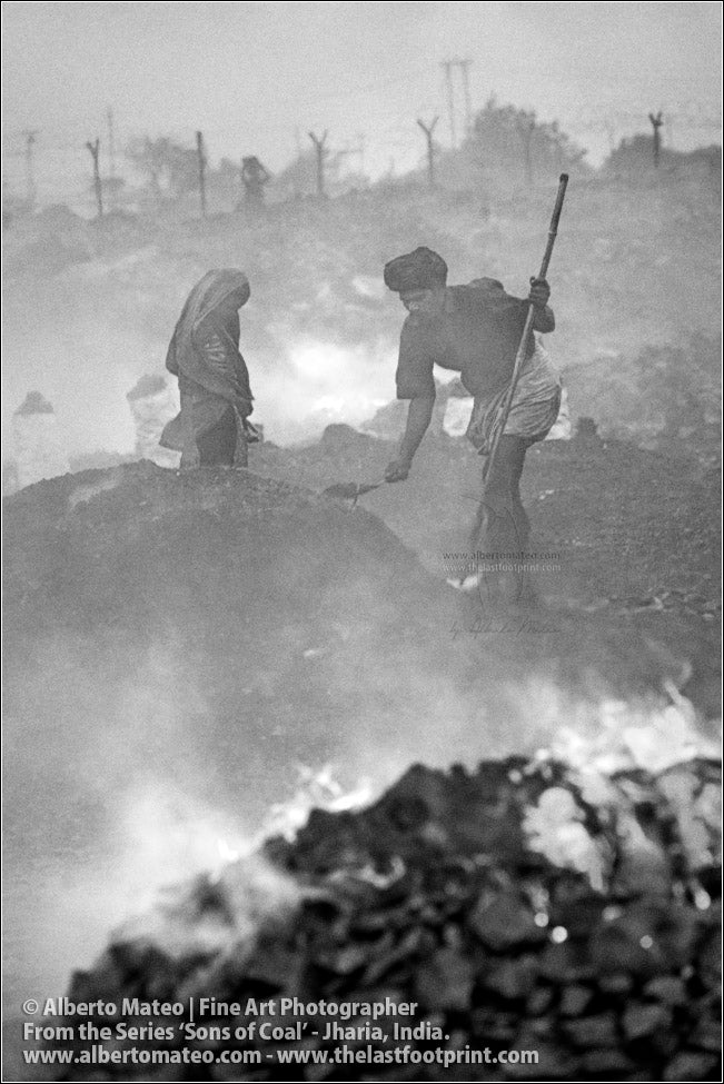 Couple covering the Coal with Sand, Sons of Coal Series.