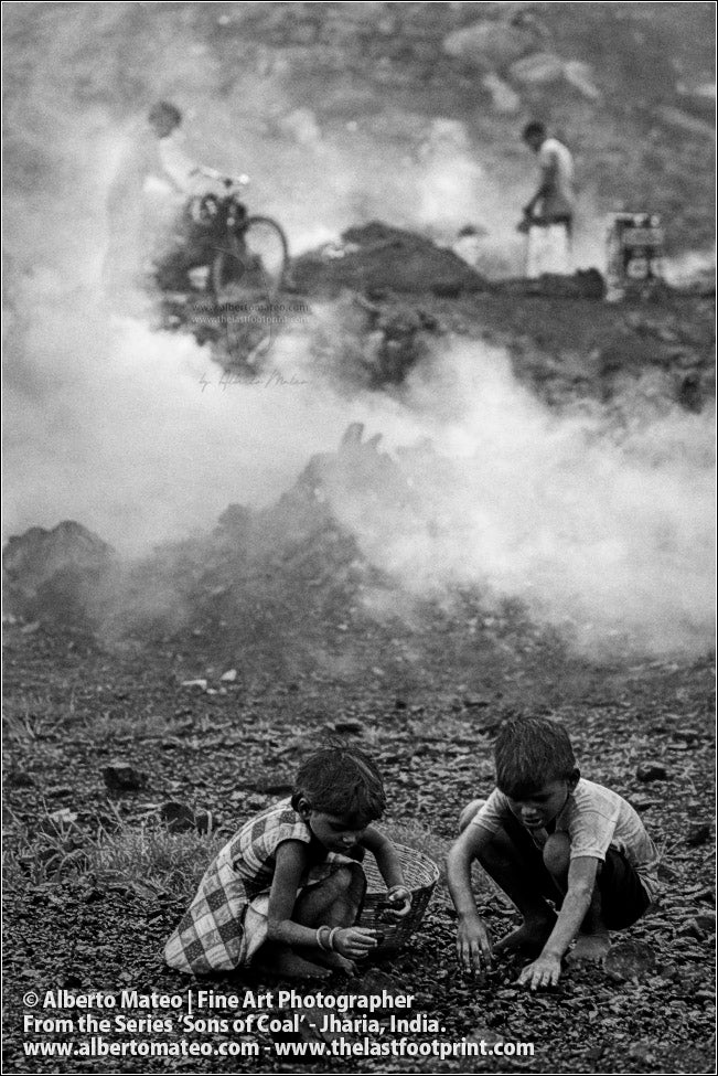 Children looking for small Coal Stones, Sons of Coal Series.