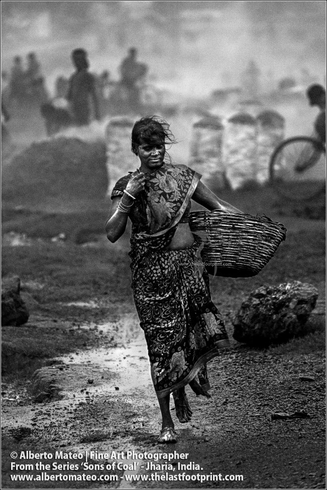 Woman with Basket, Sons of Coal Series.