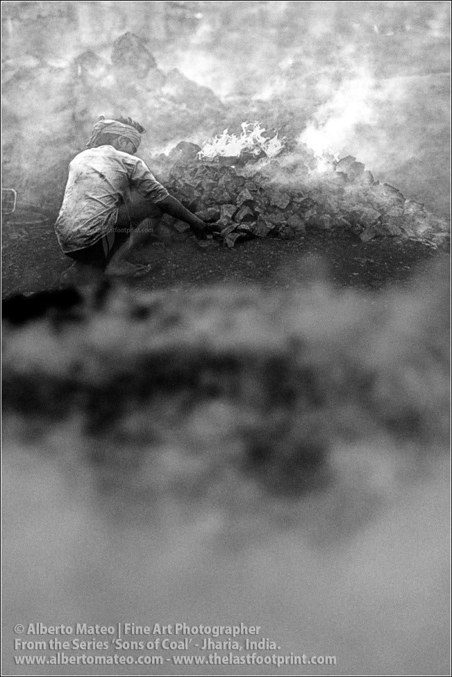 Worker making a Bonfire with Coal, Sons of Coal Series.