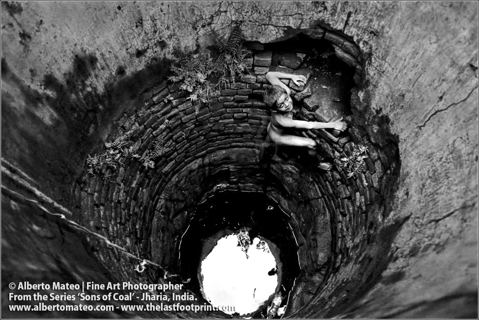 Child Climbing for Water in Well, Sons of Coal Series.