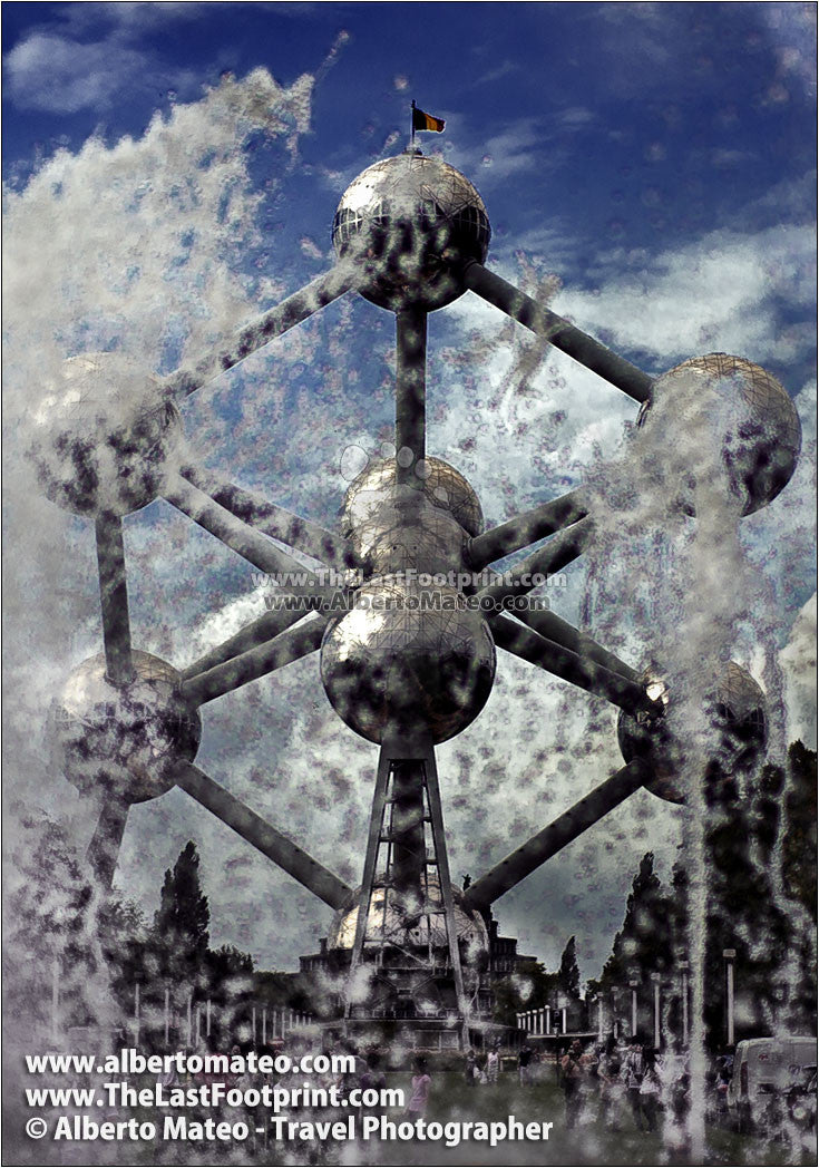 The Atomium, Brussels, Belgium. | Open Edition Fine Art Print.