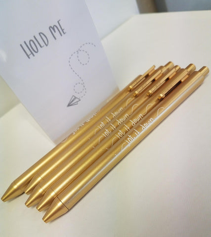 Pen Set - Jot it Down - Gold - Olipikapa