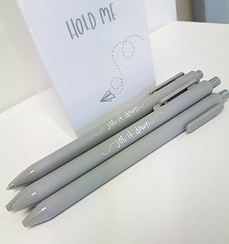 Pen Set - Jot it Down - Gray - Olipikapa