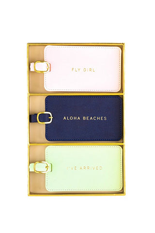 Luggage Tags - Aloha Beaches! - Olipikapa