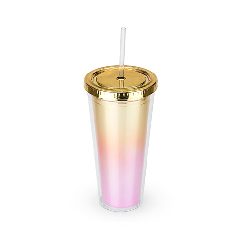 Tumbler - Metallic Ombre with Straw - Olipikapa