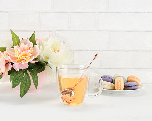 Tea Infuser - Rose Gold Heart - Olipikapa