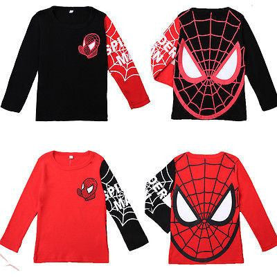 Spiderman Pullover  Black/Red Tops Long Sleeve T-Shirt 2-8Y